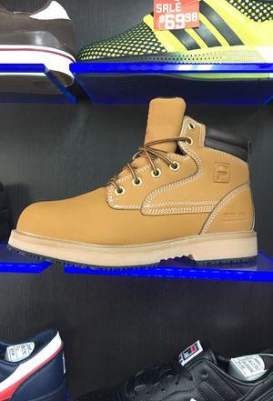Fila work boot steel toe $80.00 for Sale in Miami, FL