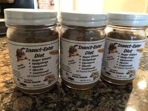 Insect-Eater Diet (from exotic nutrition ) Sugar Gliders, Hedgehogs, Skunks, Opossums, Armadillos, Coatimundi, Bearded Dragons, Marmosets, Capuchin for Sale in Tempe, AZ