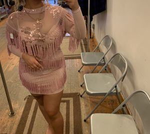 Fringe mesh sequin dress for Sale in New York, NY