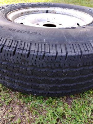Used tire with rim. Good tread size 245/75/16 for Sale in La Grange, NC