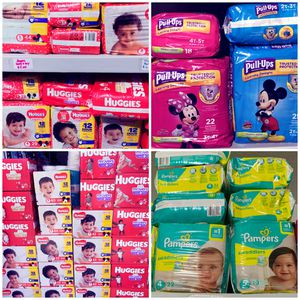 Huggies Diapers, pull ups or pamper brand for Sale in Lehigh Acres, FL