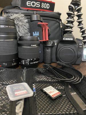 Canon 80D (YouTube Creator bundle) for Sale in Grayson, GA