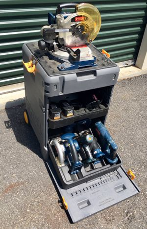 RYOBI Cordless 18V Saw Tool & Portable Rolling Case for Sale in Leominster, MA