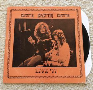 "Led Zeppelin ""Live '71"" vinyl lp 1985 Jester Productions rare unofficial live concert pressing wonderful sound quality for Sale in Placerville, CA"