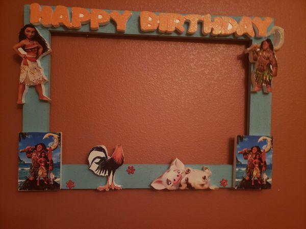Moana frame for birthdays