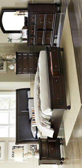 Faust Espresso Storage Platform Sleigh Bedroom Set for Sale in Pflugerville, TX