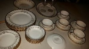 30 pieces vintage Golden Ware 22K gold fine china for Sale in Grosse Pointe Park, MI