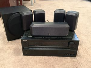 Onkyo TX-NR545 A/V Receiver w/ Yamaha Speakers and Sub for Sale in Crofton, MD