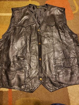 Leather vest for Sale in Danville, PA