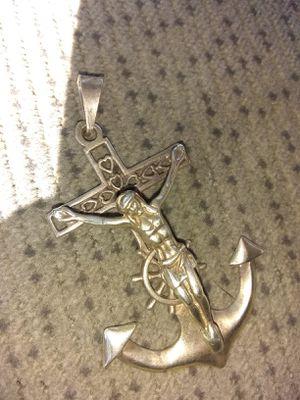 Custom Made Silver Crusafix & Anchor for Sale in Sacramento, CA