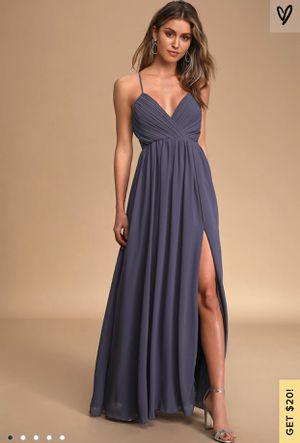 Lulus Denim Blue Prom Dress for Sale in Edgewood, WA