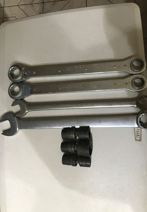 Snap on adjustable wrench and swivel sockets for Sale in Tracy, CA