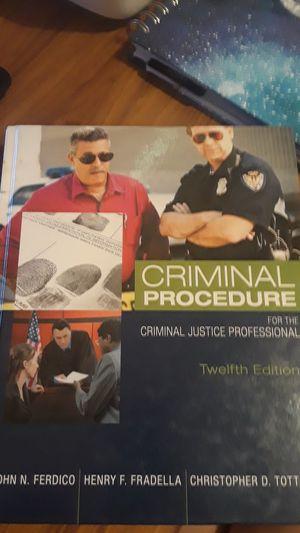 Criminal procedure. College textbook for Sale in Lakeland, FL