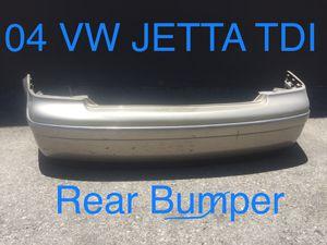 VW Volkswagen Jetta TDI Rear Bumper 2004 Used VW Audi Car Parts for Sale in Los Angeles, CA