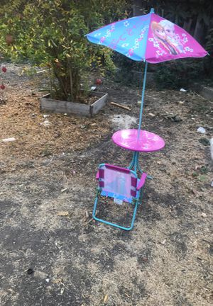 Kids table chair umbrella for Sale in Santa Clara, CA