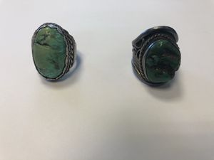Antique turquoise men's rings for Sale in Naperville, IL
