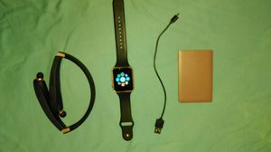 Android Smartwatch, Bluetooth Headset, Battery pack, & USB cable for Sale in Oxford, NC