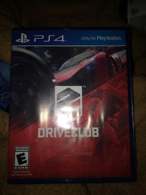 Drive Club PS4 for Sale in Fresno, CA