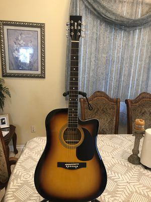 Fever classic acoustic guitar with metal strings for Sale in South Gate, CA