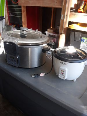 Bella crock pot 5qt, stainless look and mini rice cooker for Sale in Buena Park, CA