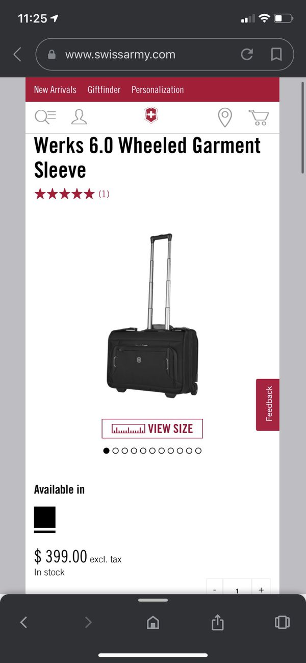 Swiss Army Wheeled Garment Sleeve Luggage