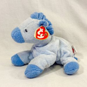 """""""My Baby Horsey Blue"""" Beanie Baby – The Baby Ty Collection – Plush Stuffed Animal Pony Toy for Sale in Murray, UT"""