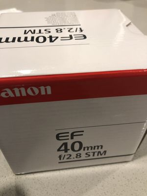 Canon EF 40mm F2.8 STM lens for Sale in Redmond, WA