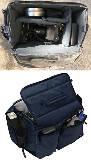 New in box $15 each cross body Navy or Dark Red Professional SLR Camera Bag cushioned for Sale in Pico Rivera, CA