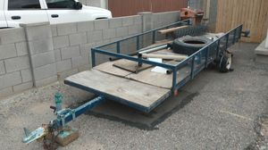 TRAILER 15 X 5 GOOD CONDITION WITH ROOM IN FRONT FOR TOOL BOX UTILITY for Sale in Phoenix, AZ