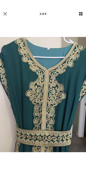 Moroccan kaftan dress size large for Sale in Antioch, CA