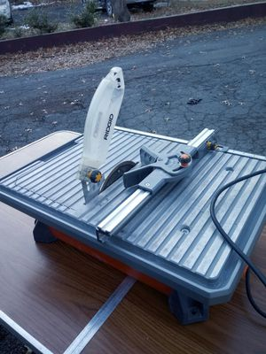 7 inch Ridgid Tabletop Wet Stone Cutter for Sale in Montclair, NJ