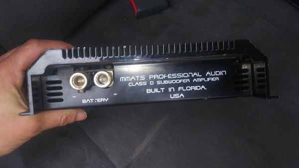 Mmatts Pro audio amplifiers