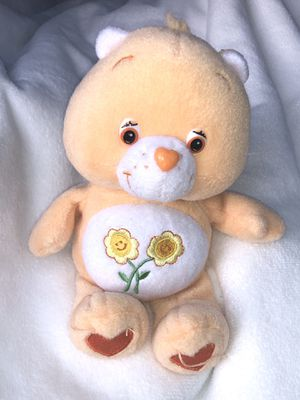 Friend carebear small plush doll toy Care Bears - 2 yellow flowers hugging on belly for Sale in Phoenix, AZ