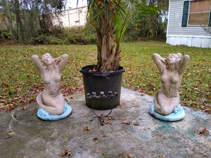 Pair Mermaid Garden Statues for Sale in Brooksville, FL