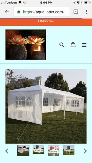 30 x 10' EVENT TENT- PRICE FIRM for Sale in Tucker, GA