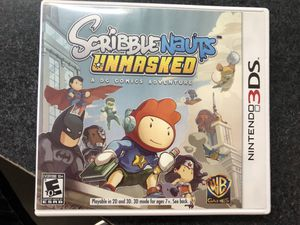 Scribblenauts Unmasked A DC Comic Adventure for Nintendo 3Ds for Sale in Griswold, CT