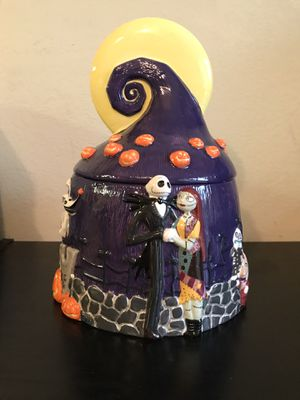 "Disney ""Nightmare Before Christmas"" cookie jar. Excellent condition, shipping/storage box opened but item is perfect. Selling for $150 on eBay. for Sale in San Jose, CA"