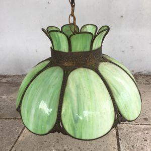 Antique green slag stain glass chandelier for Sale in Miami Beach, FL