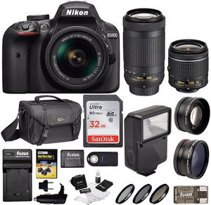D3400 Nikon - barely used, in a very new condition for Sale in Miami Beach, FL