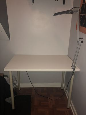 IKEA desk and lamp for Sale in Chicago, IL