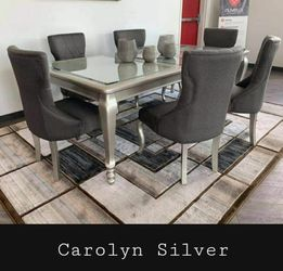 ♦️New Brand ☘️Fast Delivery ☑️Coralayne Dark Gray Rectangular Extendable Dining Room Set ☘️5-Piece Table 4 Chairs for Sale in Silver Spring,  MD