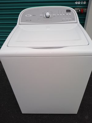 Whirlpool cabrio washer working great 30 days warranty free delivery and installation for Sale in Las Vegas, NV