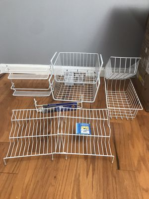 Holders! Organizer baskets! Kitchen, bathroom, home organizers! OBO!! for Sale in Canton, MI