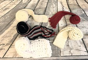 Lot of 5 Hand Crocheted Scarves for Sale in Kirkland, WA
