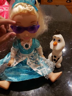 FROZEN Elsa Singing Doll and Olaf and Accessories for Sale in Manassas Park, VA