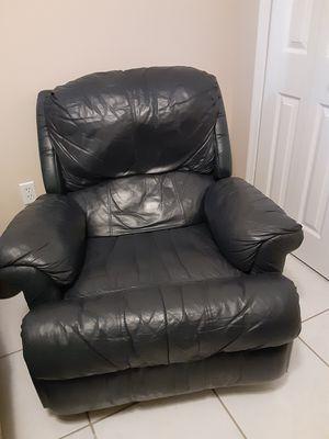 Dark blue recliner. In good shape. $50. OBO for Sale in Palm Bay, FL