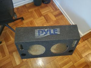 PYLE DUAL 12INCH SUBWOOFER BOX USED IN PERFECT CONDITION for Sale in The Bronx, NY