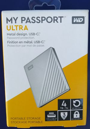 WD My Passport Ultra 4TB External Portable Hard Drive Brand New for Sale in Los Angeles, CA