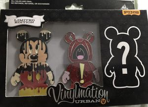Disney Vinylmation Jumbo pin set( 3 ) one mystery pin. for Sale in Oakland Park, FL