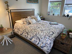 Bed Frame, Mattress, Nightstand combination (Queen size) for Sale in Ventura, CA